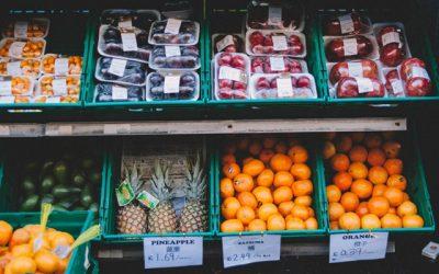 fruit displayed at market